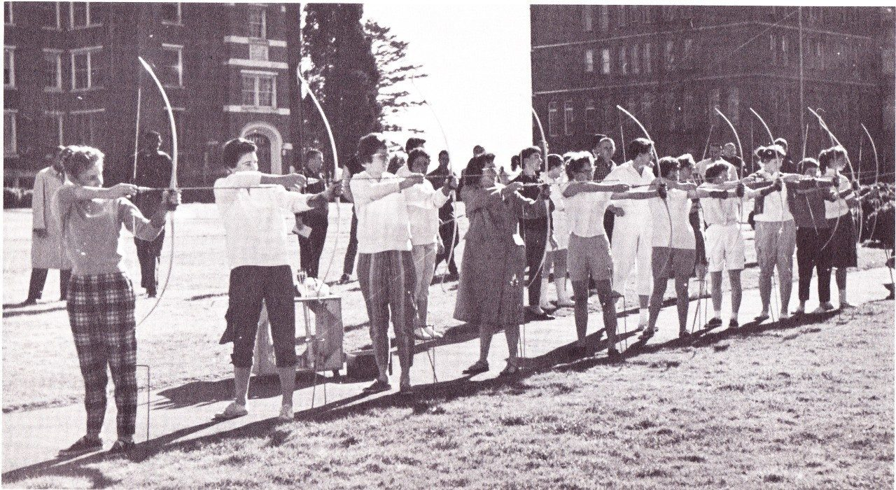 Archery, 1960 (University Museum photo, click to enlarge)