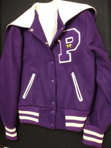 Varsity Letter Jacket with Tennis Patch, 1982 (donated by Eileen Cebula Smith '82, University Museum)