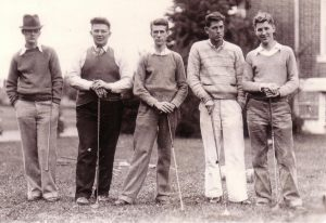 Golfers, ca1934 or 1935 (University Archives photo, click to enlarge)