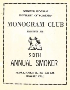 Monogram Smoker program, 1952 (University Archives, click to enlarge)