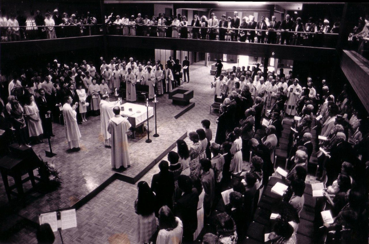 Chapel of Christ the Teacher Dedication, October 5, 1986 (University Archives photo)