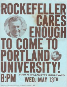 Nelson Rockefeller Flyer, May 13, 1964 (University Museum, click to enlarge)