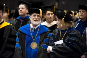 Dr. James Male and Dr. Margaret Hogan, UP Commencement, 2009