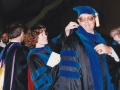 Dr. Susan Baillet and Dr. Bob Duff, 1989 commencement