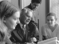 Dr. Thom Faller with students, 1997