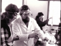 Dr. Chris Kodadek with students, 1984