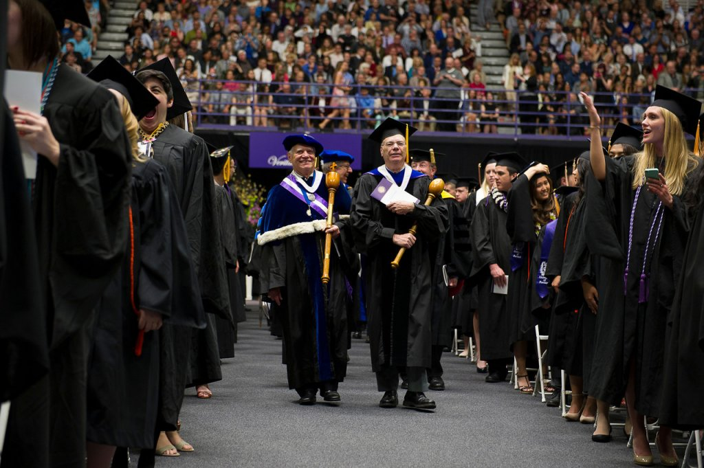 Dr. Thompson Faller; Dr. Robert Albright, 2014 Commencement (Marketing & Communications)