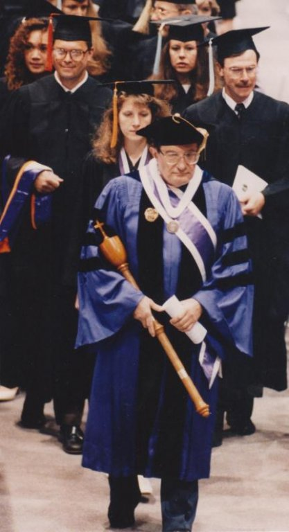 Dr. Manuel Macias, 1992 Commencement (University Archives)
