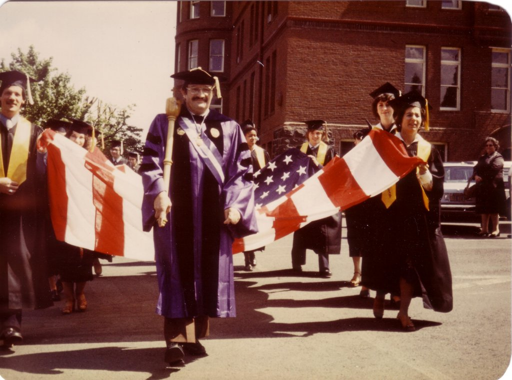 Dr. Manuel Macias, 1977 Commencement (University Archives)
