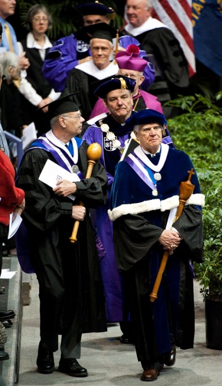Dr. Robert Albright; Dr. Thompson Faller; Rev. E. William Beauchamp, 2009 Commencement (Marketing & Communications)