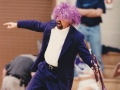Dr. Philip Cansler purple wig and suit, 1990s