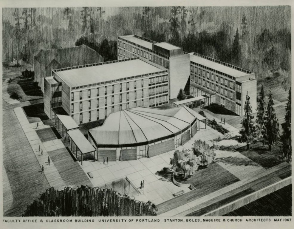 Architect Sketch of Buckley Center, 1967