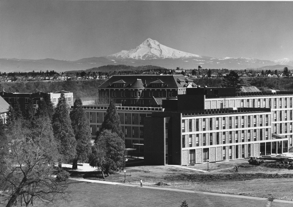 Buckley Center with Mt. Hood, 1968