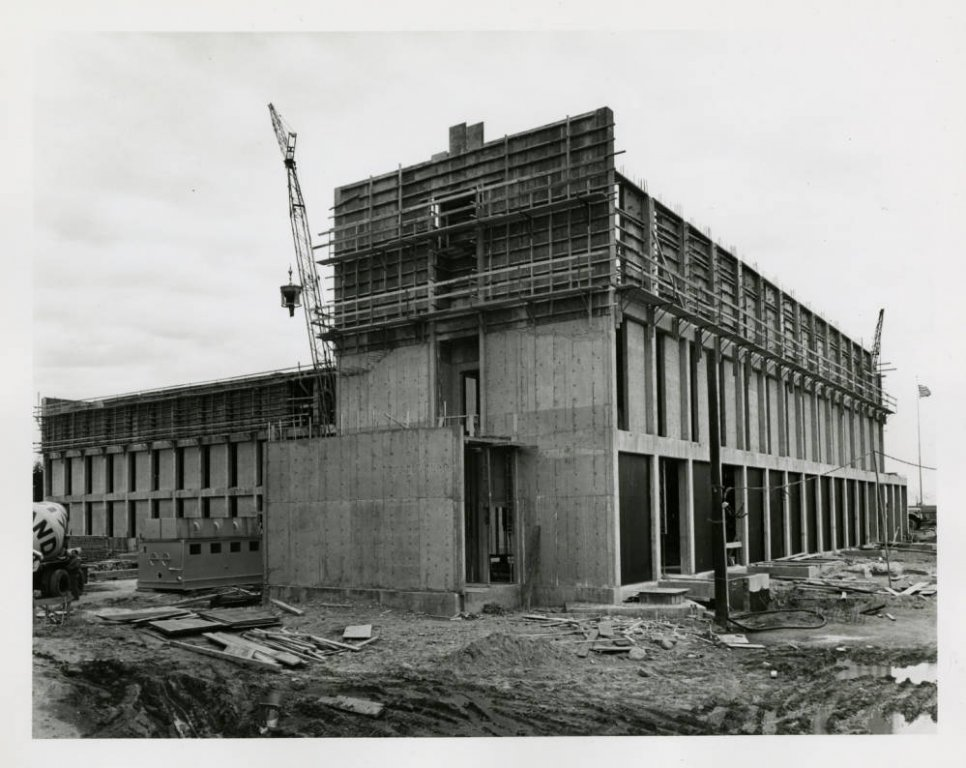 Buckley Center Construction from the north, 1968