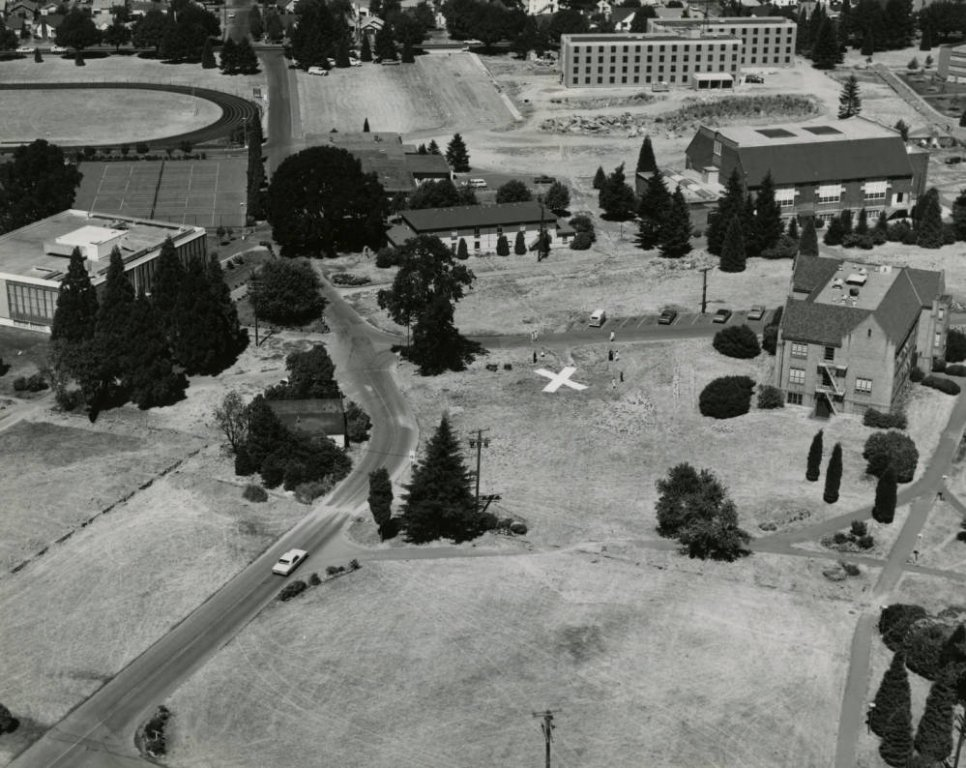 Marked location for Buckley Center, 1967