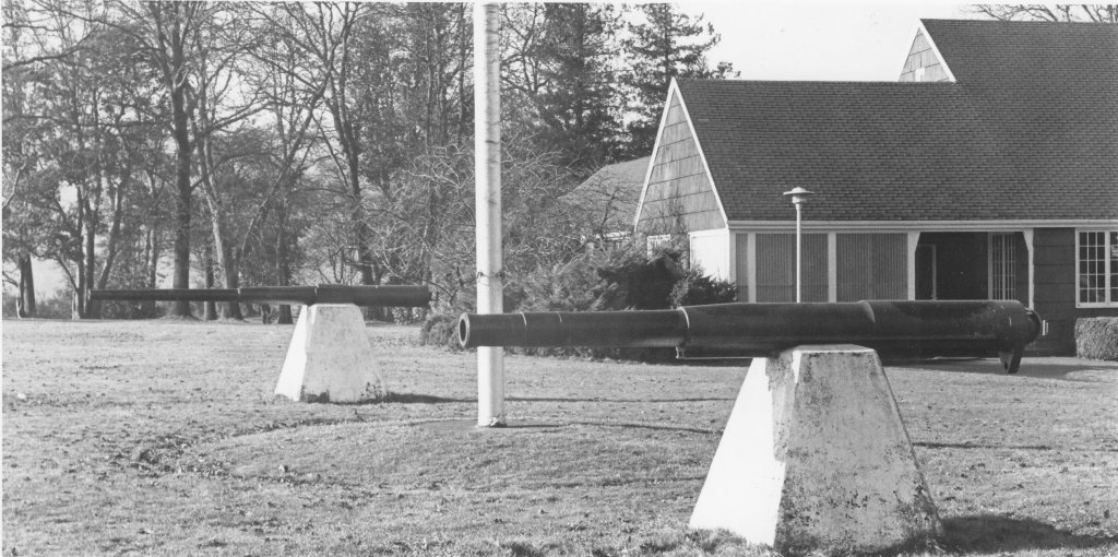 Cannons in front of St. Mary's, ca1967