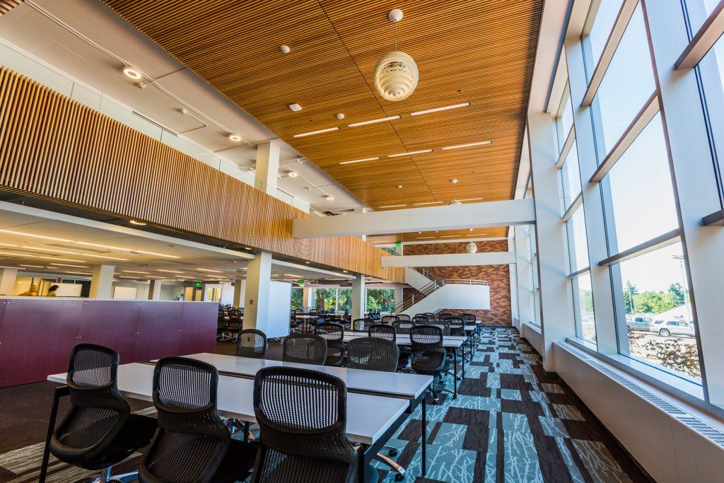 Clark Library 2013 Main Level study tables