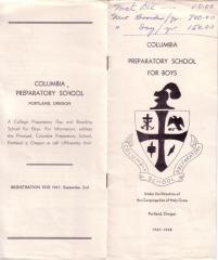 Columbia Prep Brochure, 1947-48