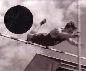 Jerry Studley, '47, Columbia Prep Pole Vaulting