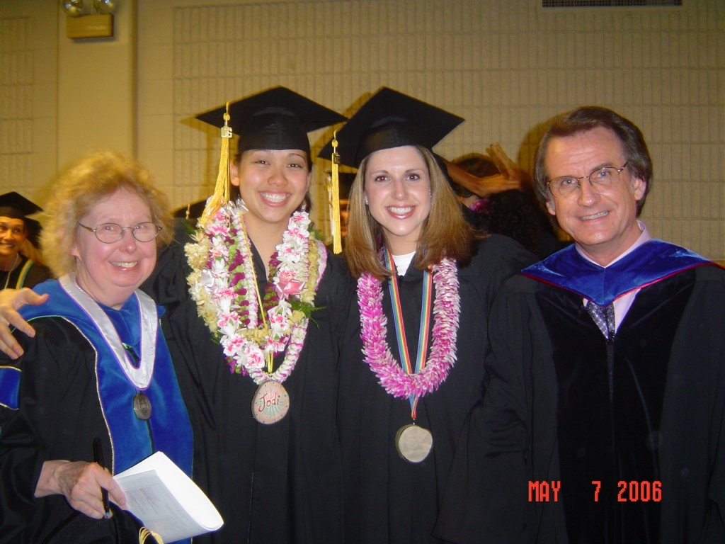 Dr. Becky Houck, Jodi Segawa, Jamie Smith, Dr. David Alexander, 2006 Commencement