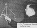 Fr. George Dum, C.S.C., at Math Chalkboard, 1945