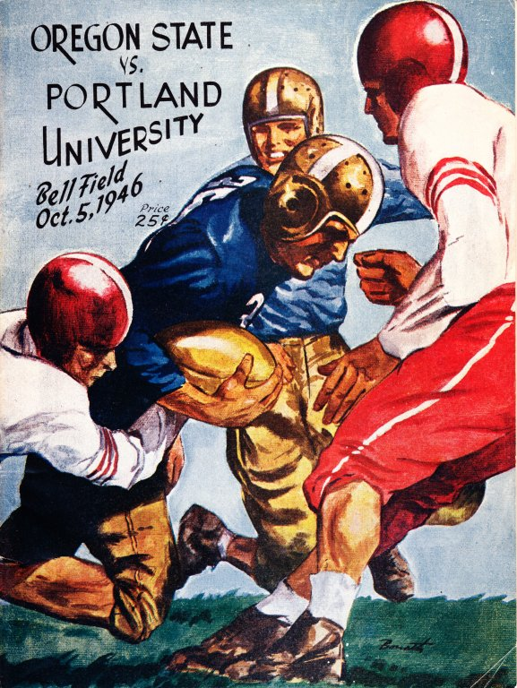 Program for Oregon State vs Portland University Football Game, October 5, 1946