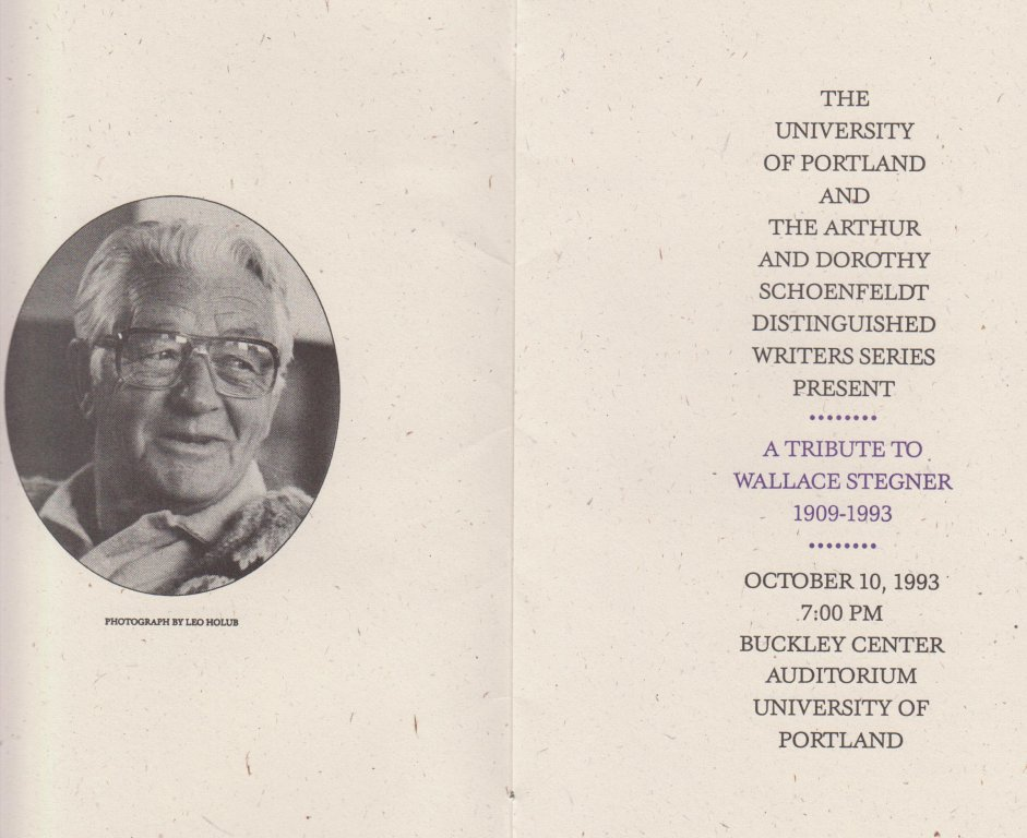 Schoenfeldt Distinguished Writers Series, 1993