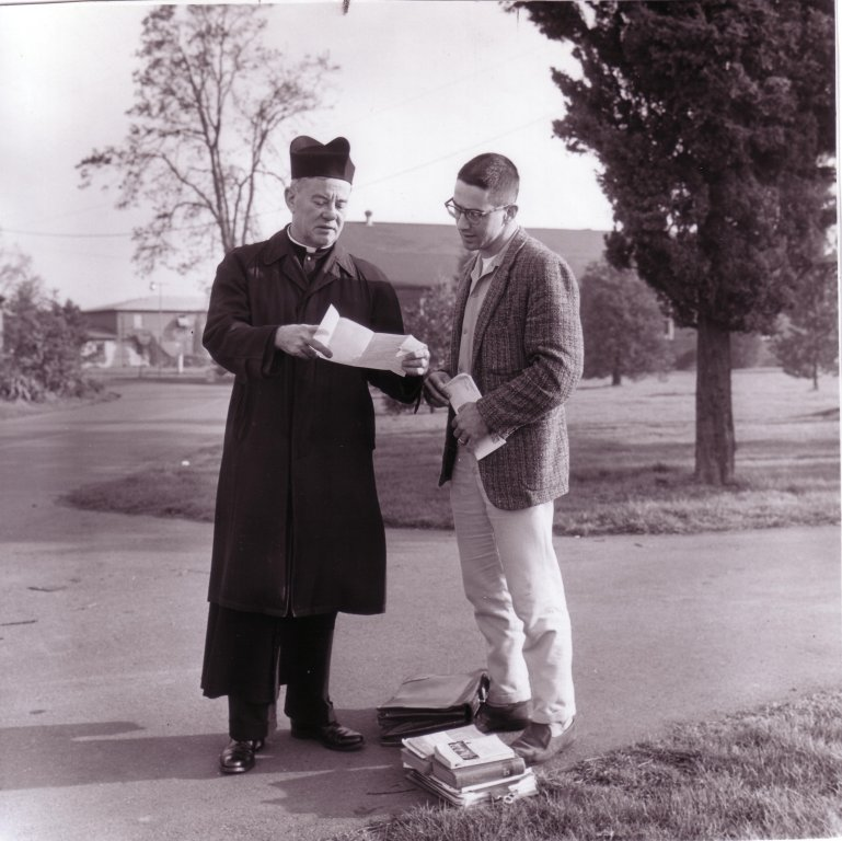 Rev. Raymond Pieper with student, 1966