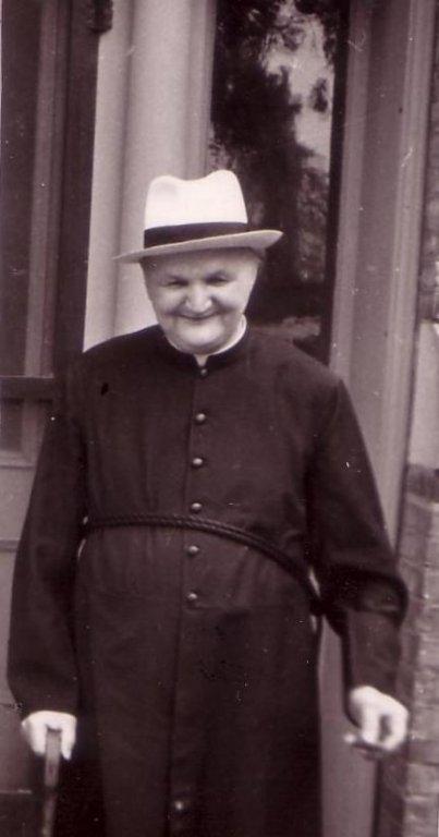 Bro. Wilfrid Schreiber, steam plant operator, ca 1949 M1 steam plant operator