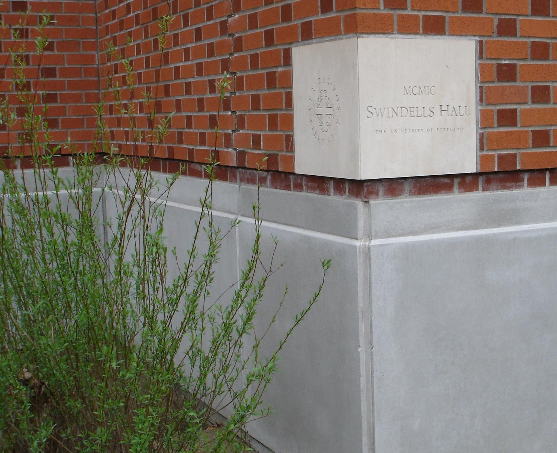 Swindells Hall cornerstone, 1999