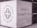 Corrado Hall cornerstone, 1998