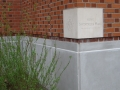 Swindells Hall cornerstone, 1999