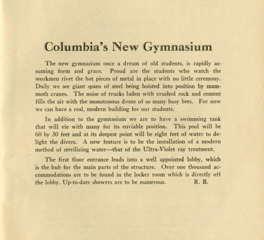 Columbiad, October 1927