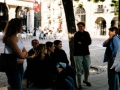 Dr. Kate Regan and students in Segovia, Spain, 2003, Brianne Foster photo