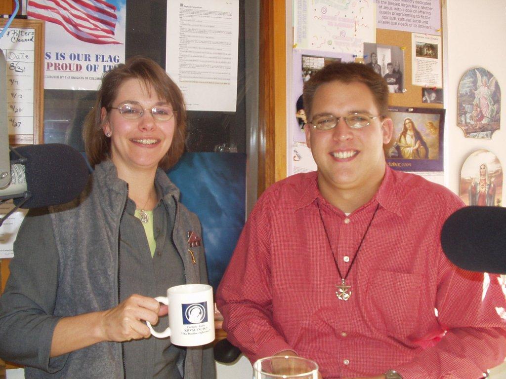 Dina Marie Hale and Fr. Brad Metz, C.S.C., 2004