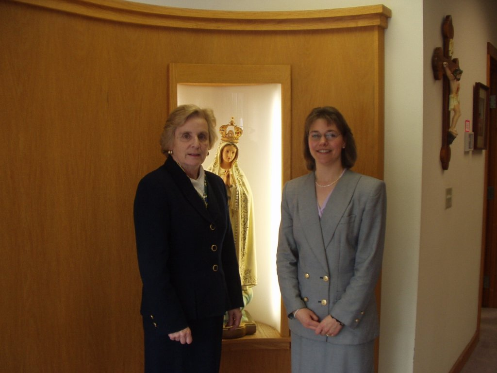 Dina Marie Hale with Dr. Peg Hogan guest on IN PERSON, March 2004