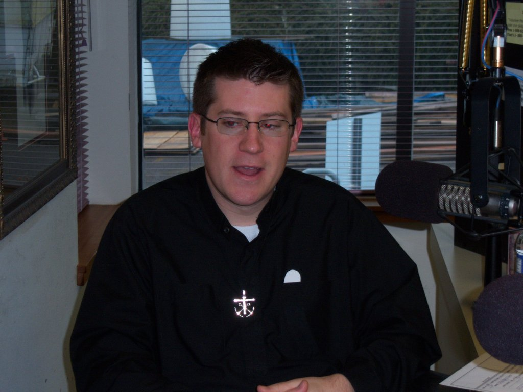 Fr. Stephen Koeth, C.S.C. Helps with Spring Sharathon, 2008