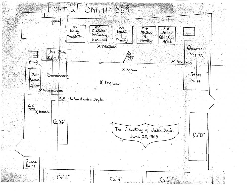 "Fort C. F. Smith drawn by Martha Wachsmuth for Fr. Barry Hagan article, ""I Did It But Did Not Mean It"", 1977"
