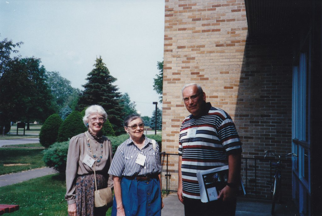 Martha Wachsmuth,  Dr. Lillian Pereyra,  Br. Donald Stabrowski, 1995