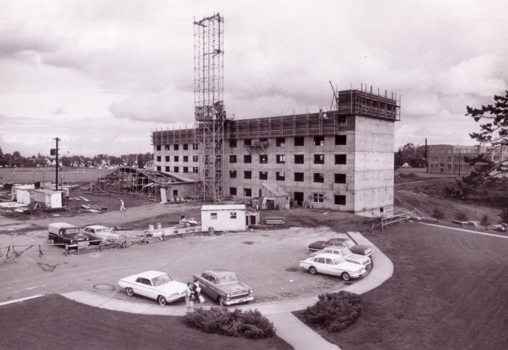 Construction of Mehling Hall, 1963