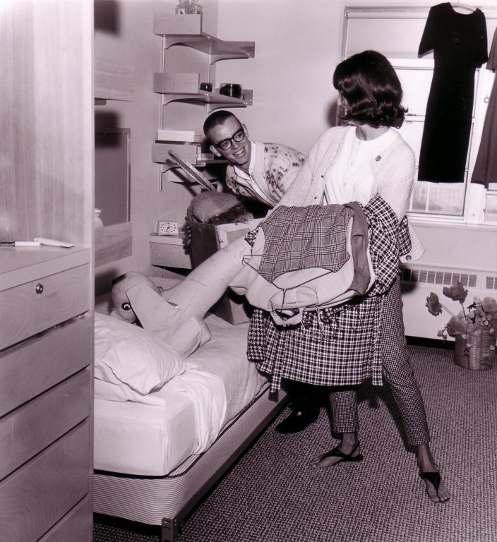 Moving into Mehling Hall Dorm Room, 1965