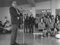 Jack Benny entertains students in Mehling Hall, November 1964