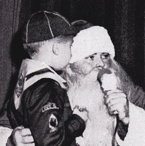 Boy Scout with Santa, 1952
