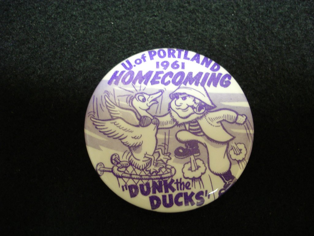 Homecoming game button, 1961