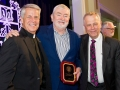 Fr. Mark Poorman, Dr. Mead Hunter, Dr. Gary Malecha, Faculty Gala, 2018
