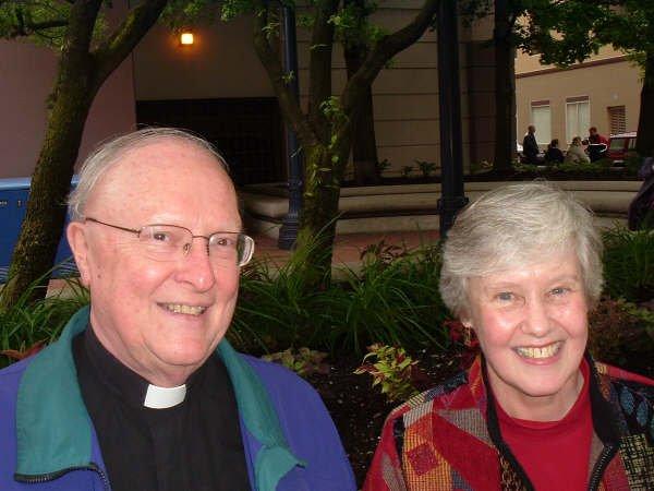 Rev. Richard Berg, C.S.C., and Mary Sue Richen, 2008
