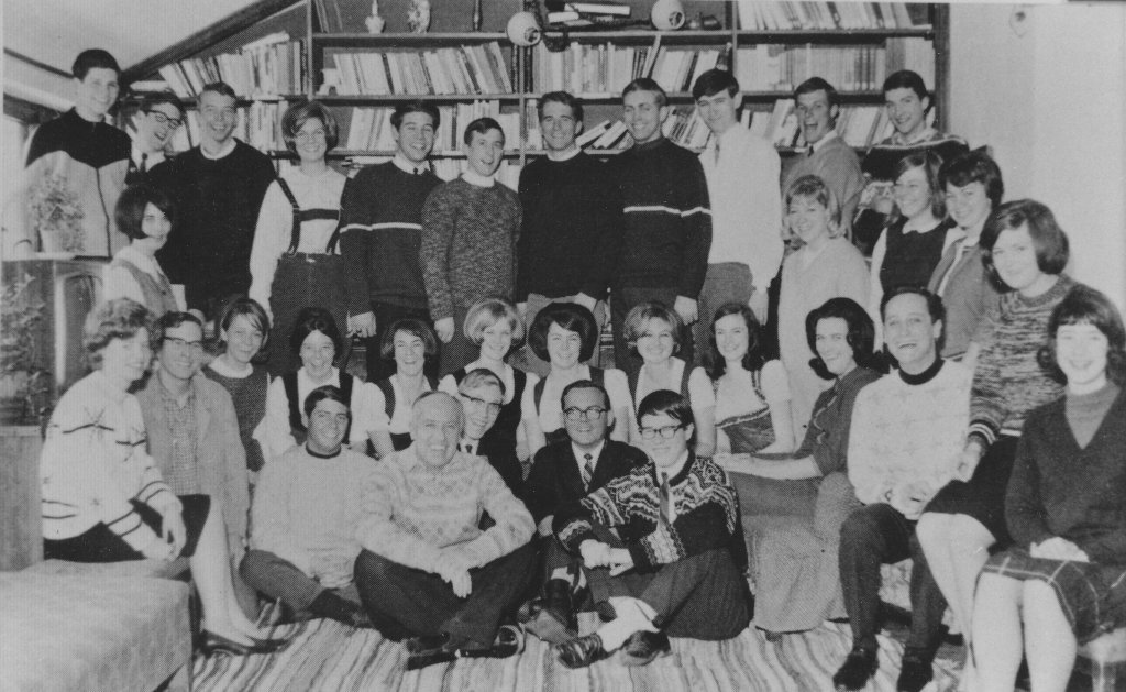 1964 Group with Rev. Ambrose Wheeler, C.S.C.