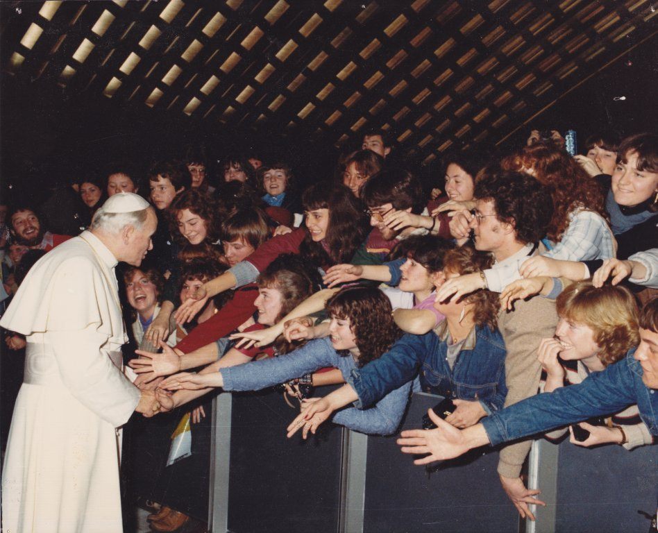 1982-83 group with Pope John Paul II