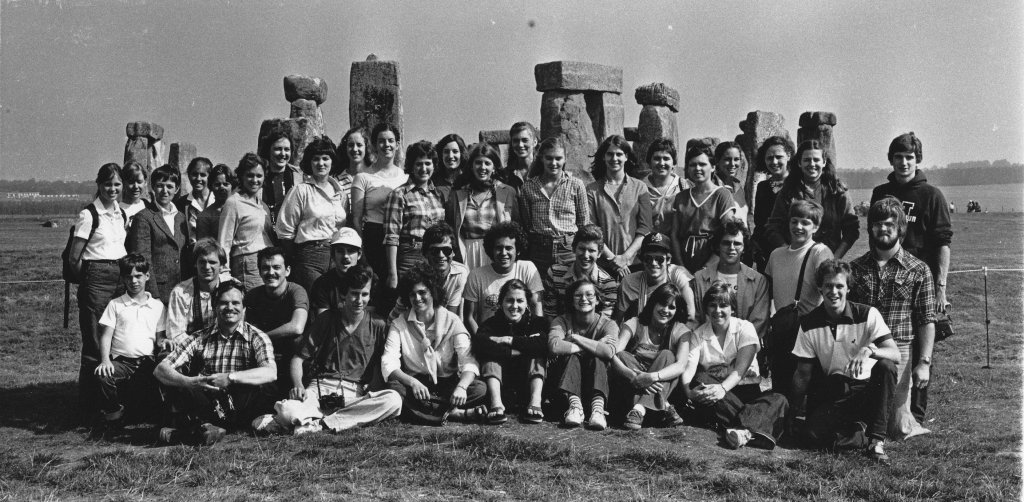 Salzburg group with Dr. Thompson Faller, Director, 1980-81