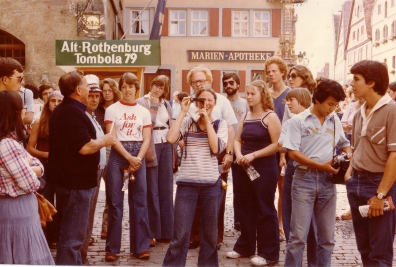 Salzburg students with Fr. Gordon Wilcox, C.S.C., 1979-80